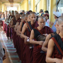 Monks at Bago, Myanmar (Burma).