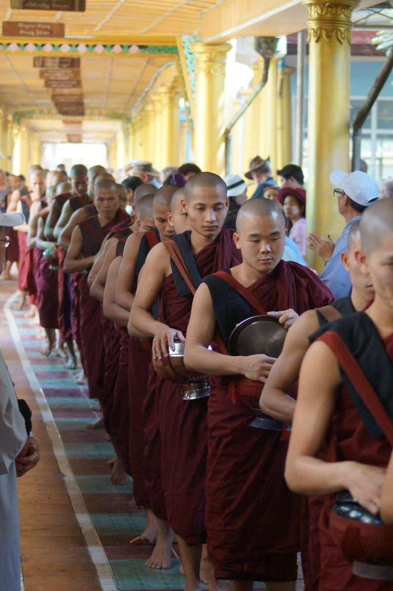 Monks at Bago, Myanmar (Burma).