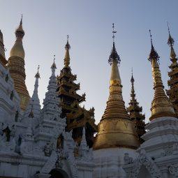 Shwedagon Pagoda at sunset, Yangon, Myanmar (Burma).