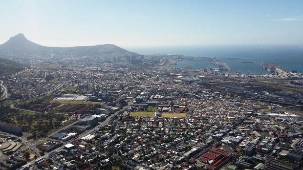 Lion's Head and Cape Town.