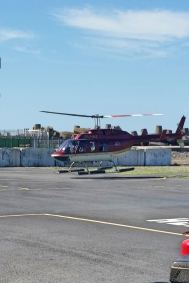 Helicopter landing.
