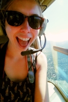 Me in the helicopter.