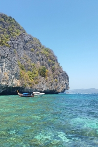 The clear waters of Phi Phi.