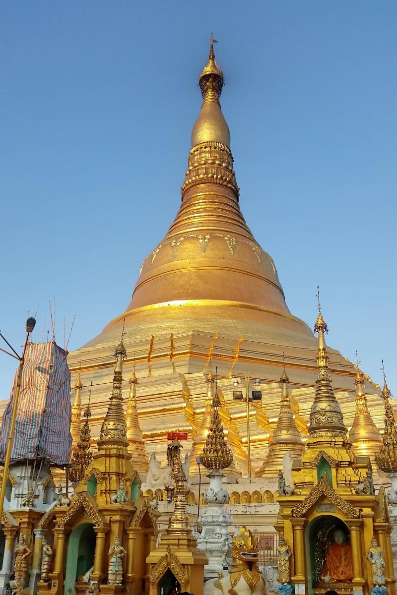 The Shwedagon Pagoda.
