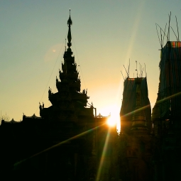 Sunset in Yangon.